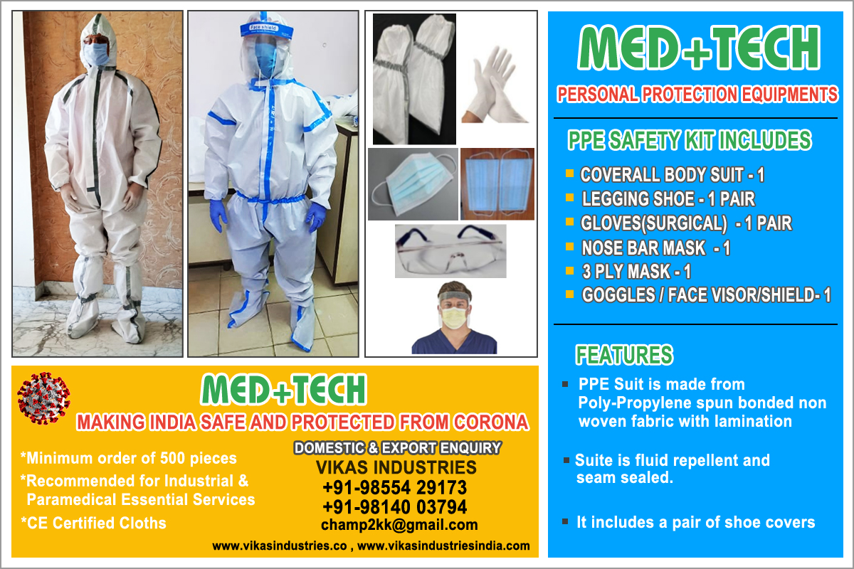 ppe kit face mask manufacturers suppliers exporters in ludhiana punjab india