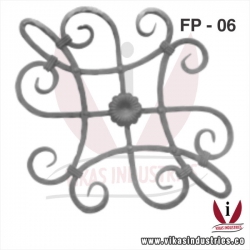 <p>Wrought Iron Flower Panel</p>
